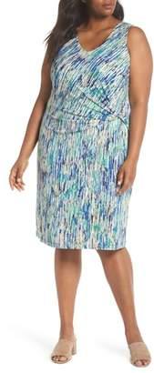 Nic+Zoe Mirage Print Side Twist Dress
