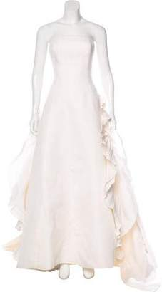 Angel Sanchez Strapless Silk Wedding Gown