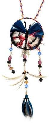 Valentino Butterfly Dream Catcher Pendant Necklace