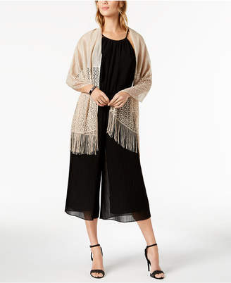INC International Concepts I.n.c. Knit Fringe Evening Wrap, Created for Macy's