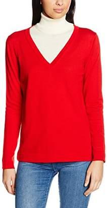 Gant Women's Fine Merino Wool V-Neck Jumper