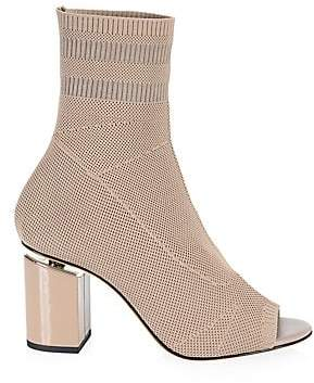 e836aa2423 Alexander Wang Women's Cat Mid Heel Peep Toe Sock Booties