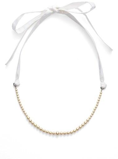Miu MiuWomen's Miu Miu Classic Imitation Pearl & Ribbon Necklace