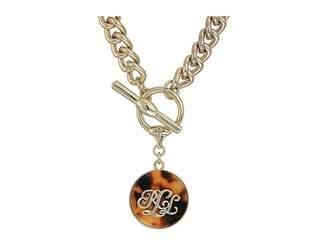 Lauren Ralph Lauren Tortoise 18 Pendant Necklace