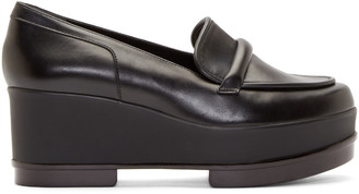 Robert Clergerie Black Platform Yokolej Penny Loafers $595 thestylecure.com