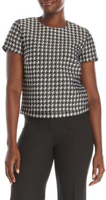 pink tartan Flocked Houndstooth Shirt $195 thestylecure.com
