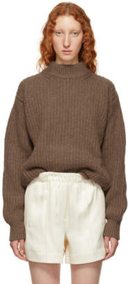 Victoria Beckham Brown Alpaca and Wool Sweater