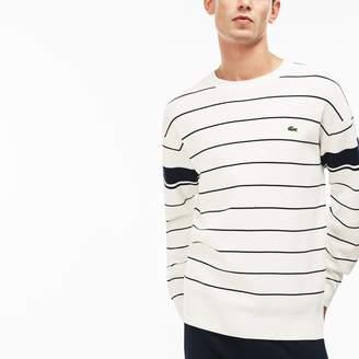 Lacoste Men's Crew Neck Striped Milano Sweater