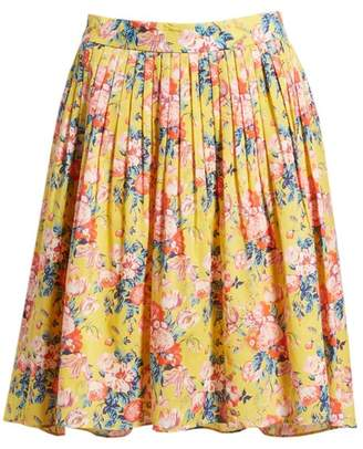 J.Crew J. Crew Cotton Pleat Front Skirt
