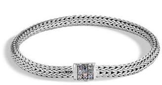 John Hardy Classic Chain Extra Small Pavé Pusher Clasp Bracelet