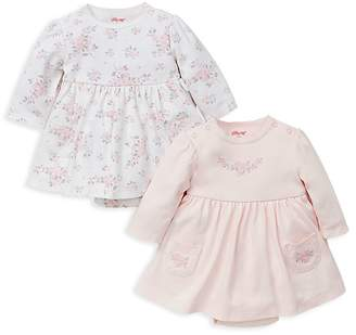 Little Me Girls' Rose-Print Bodysuit Dresses, Set of 2 - Baby
