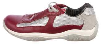 Prada Sport Leather Low-Top Sneakers