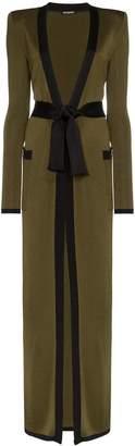 Balmain belted maxi cardigan