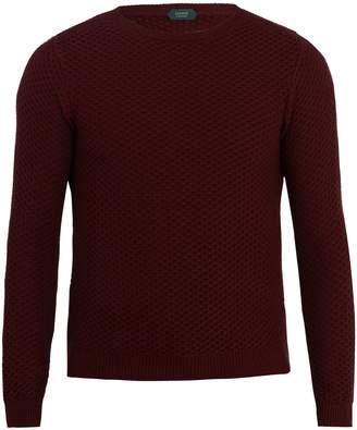 Zanone Crew-neck waffle-knit sweatshirt