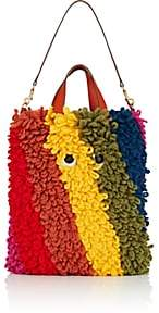 Anya Hindmarch Women's Shopper Shag Eyes Wool & Leather Tote Bag