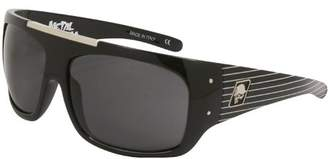Metal Mulisha Lens with Stripes Frame Compound Sunglasses ()