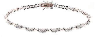 FINE JEWELRY Diamonart Womens 3 5/8 CT. T.W. Cubic Zirconia Tennis Bracelet