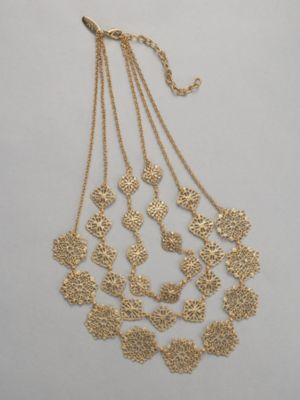 City Style Filigree Circle Necklace