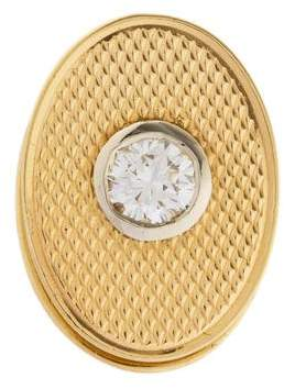 Tiffany & Co. 14K Diamond Tie Clip
