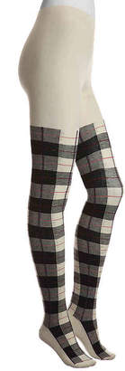 Me Moi MeMoi Plaid Sweater Tights - Women's