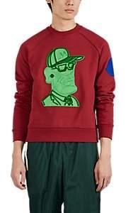 Moncler 2 1952 Men's Graphic Cotton Fleece Sweatshirt - Red