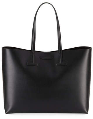 Tom Ford Medium T Saffiano Leather Tote Bag