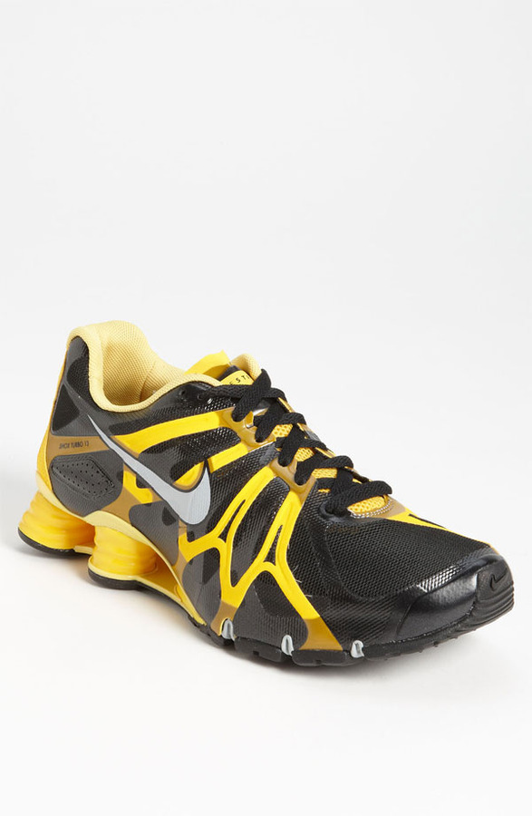 Nike 'LIVESTRONG Shox Turbo+ 13' Running Shoe (Men) Black/ Silver/ Maize 10.5 M