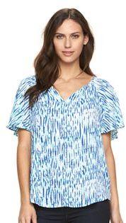 Women's Apt. 9® Flutter Sleeve Top $36 thestylecure.com