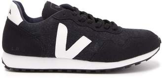 Veja Sdu Contrast Panel Trainers - Womens - Navy