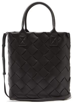 Bottega Veneta Intrecciato Woven Leather Tote - Womens - Black
