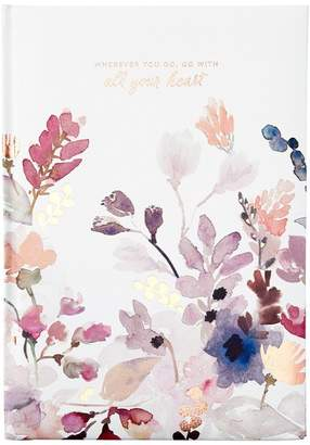 Indigo Paper EMBOSSED JOURNAL WITH ALL YOUR HEART FLORAL