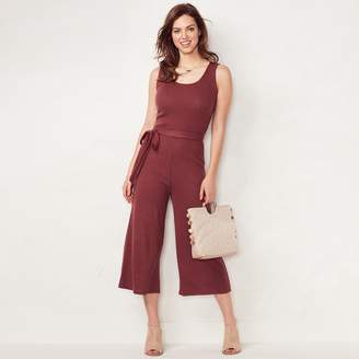 Lauren Conrad Women's Weekend Wide-Leg Capri Jumpsuit