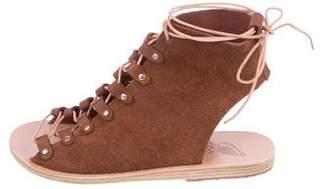 Ancient Greek Sandals Mache Suede Sandals