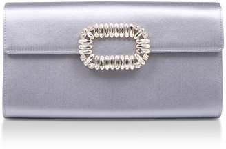 Roger Vivier Silk-Satin Envelope Clutch Bag