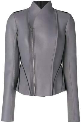 Rick Owens Lilies panelled biker jacket