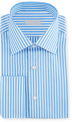 Stefano Ricci Men's Wide Striped Dress Shirt