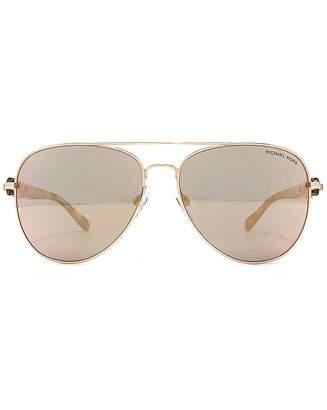 Michael Kors Paphos Sonnenbrille Weiß Soft Touch 11236G 65mm k1HDdM