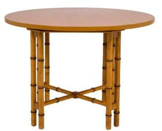 Faux Bamboo Dining Table Brown Faux Bamboo Dining Table
