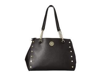 Anne Klein Round Double Top Zip Satchel Satchel Handbags