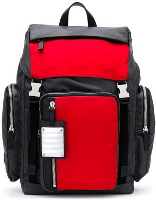 Fpm – Fabbrica Pelletterie Milano double buckle backpack