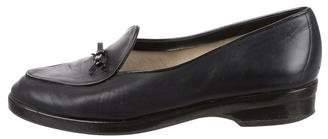 Stuart Weitzman Bow-Accented Leather Loafers