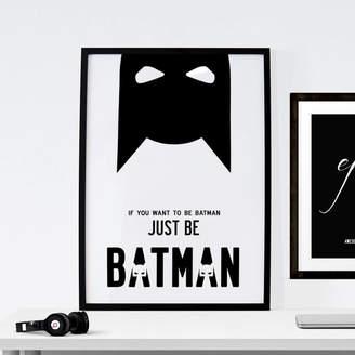 I Love Design Batman Superhero Illustration. Four Sizes Poster Canvas