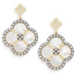 Freida Rothman Mother-Of-Pearl & 14K Yellow Gold Vermeil Clover Drop Earrings