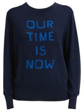 Theory Intarsia Logo Crewneck Sweater
