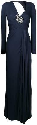 Versace long empire line dress