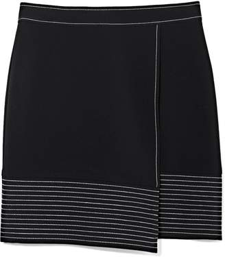 Vince Camuto Topstitched-border Skirt