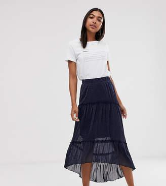 Minimum layered maxi skirt