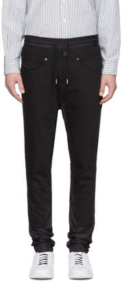 Diesel Black Gold Black Panelled Drawstring Jeans