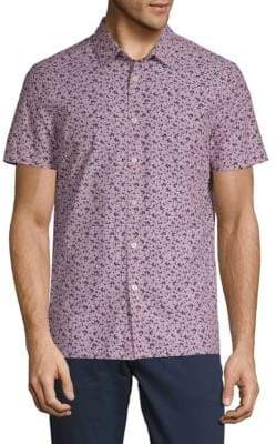Perry Ellis Printed Cotton Button-Down Shirt