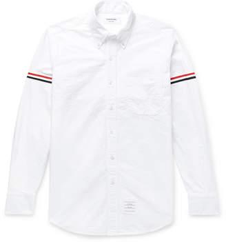 Thom Browne Slim-Fit Button-Down Collar Grosgrain-Trimmed Cotton Oxford Shirt